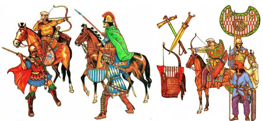 Infantería ligera y caballería persa