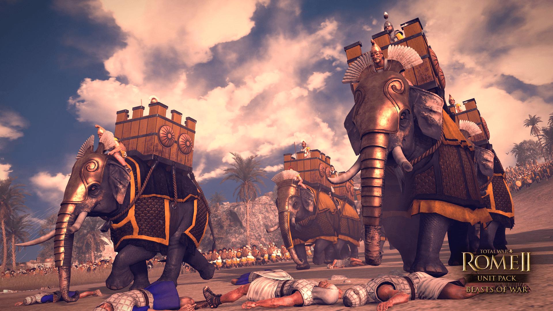 Batalla de Rafia 217 AC. Juego Total War Rome II