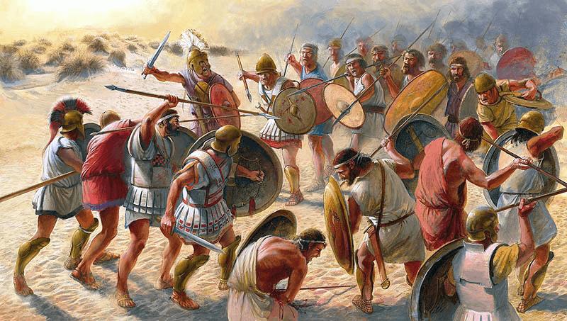 Primera batalla de Himera 480 AC. Autor Radu Oltean