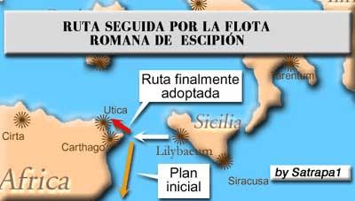 Ruta marítima seguida por Escipión el Africano