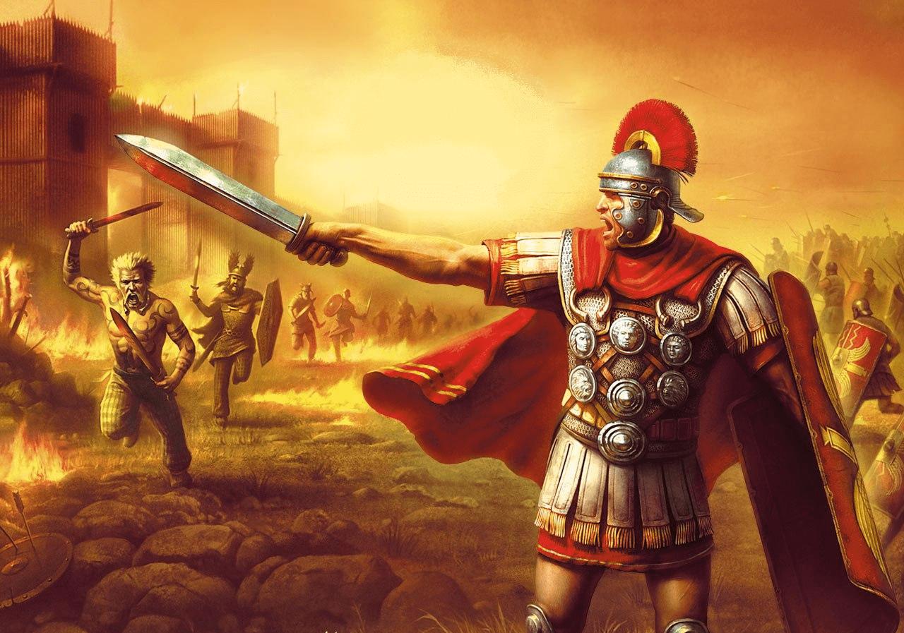 Batalla de Caer Caradoc año 51, los britanos huyen del fuerte y se encuentran con los auxiliares.