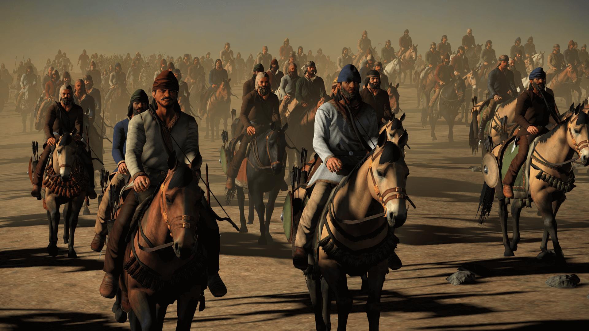 Caballería ligera sasánida, compuesta por nómadas de la estepa, árabes, turcos, etc.
