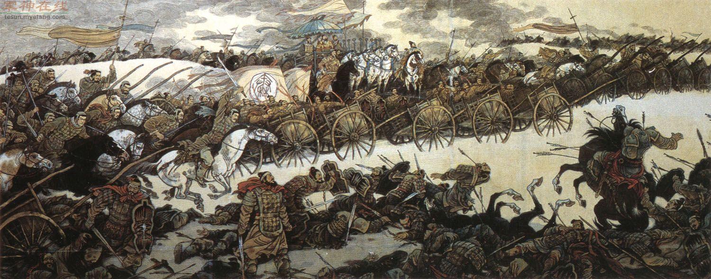 Batalla de Changping: Bai Qi de Qing atrae Zhao Qo de Zhao