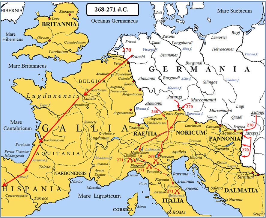 Invasiones bárbaras 268-271