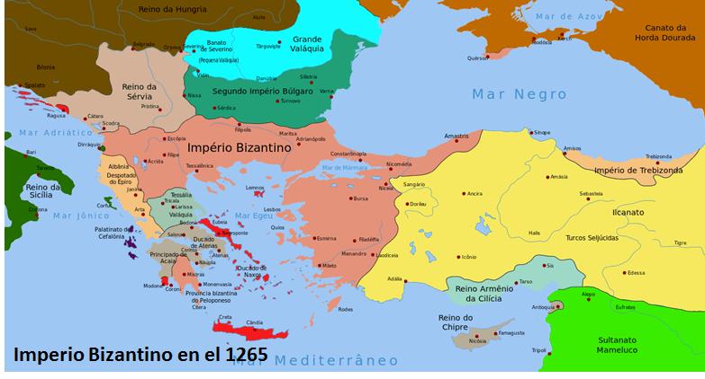 Imperio Bizantino en 1.265