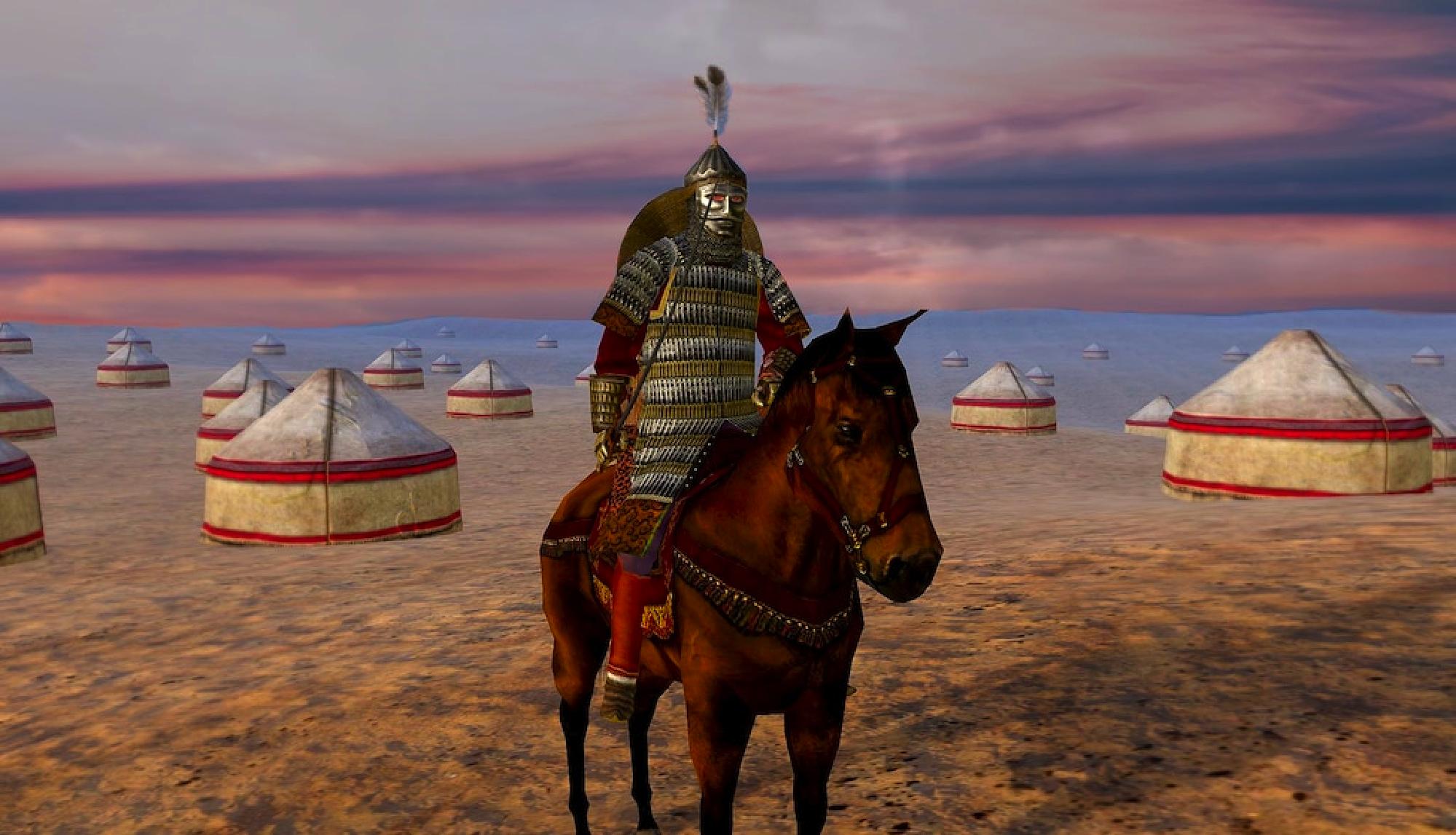 """Campamento cumano. Decorado para el acto 2 de la ópera """"el príncipe Igor"""" de Borodin"""