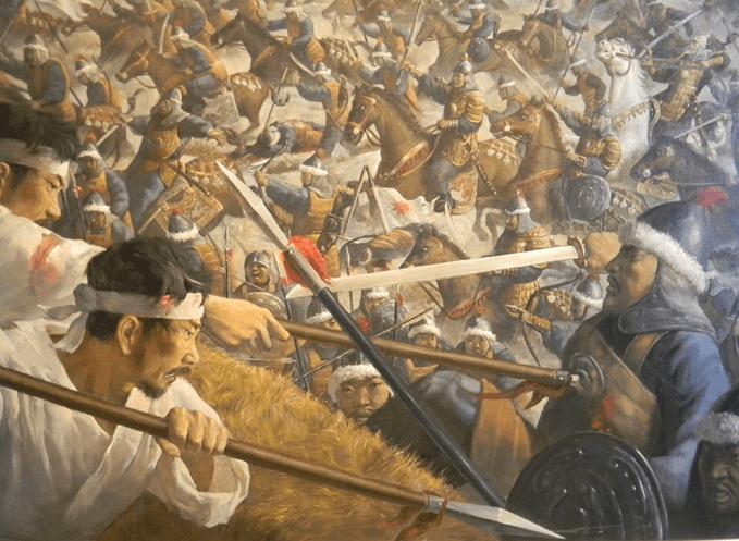 Asalto mongol a Choein (Seul). Fuente War Memorial of Korea