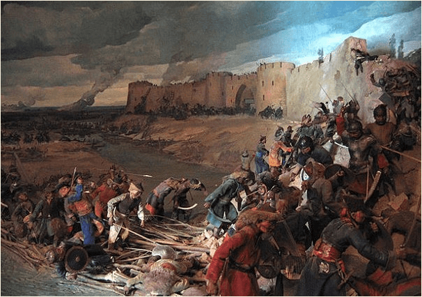 Asedio y toma de Otrar por los mongoles en 1.219