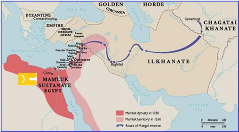 Avance mongol del Ilkhanato contra el sultanato Mameluco