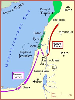 Avance mongol en Palestina