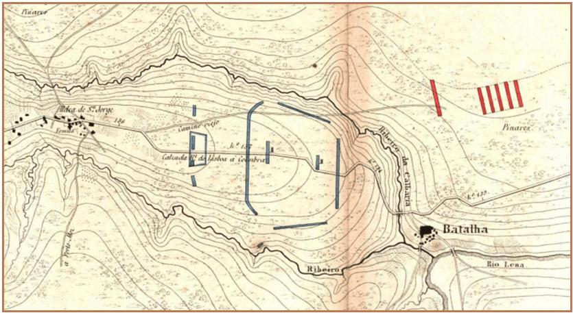 Batalla de Aljubarrota 1.385. Segunda posición portuguesa