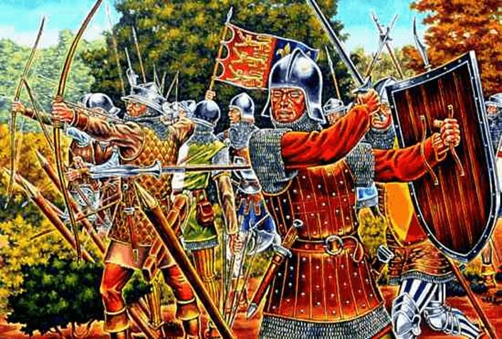 Batalla de Cocherel 1364. Fuerzas inglesas de John Jouel