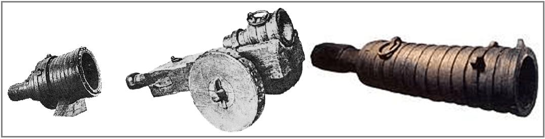 Bombardas o pedreros o morteros, en España se llamaban truenos