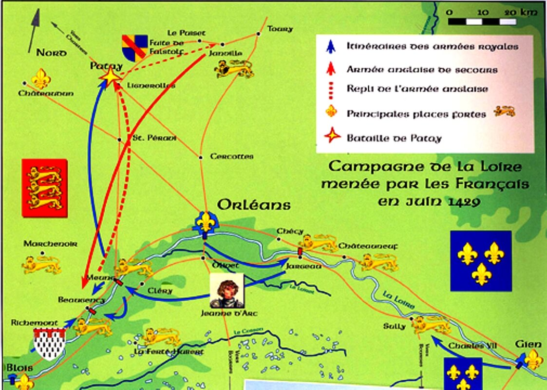 Campaña del Loira de Juana de Arco. Fuente http://home.eckerd.edu