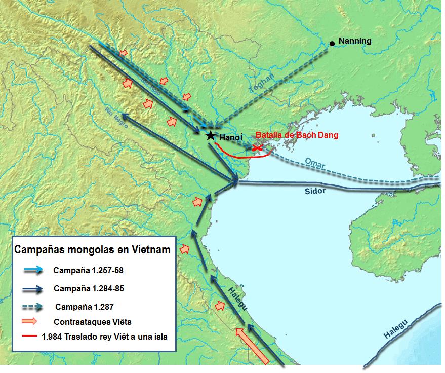 Campañas mongolas en Vietnam