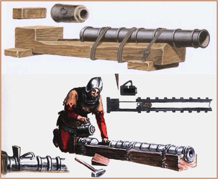 Veuglaire o fawler era un cañón ligero largo que se cargaba por detrás por la recámara