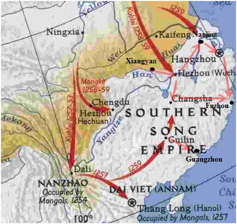 Segunda invasión mongola del imperio Song