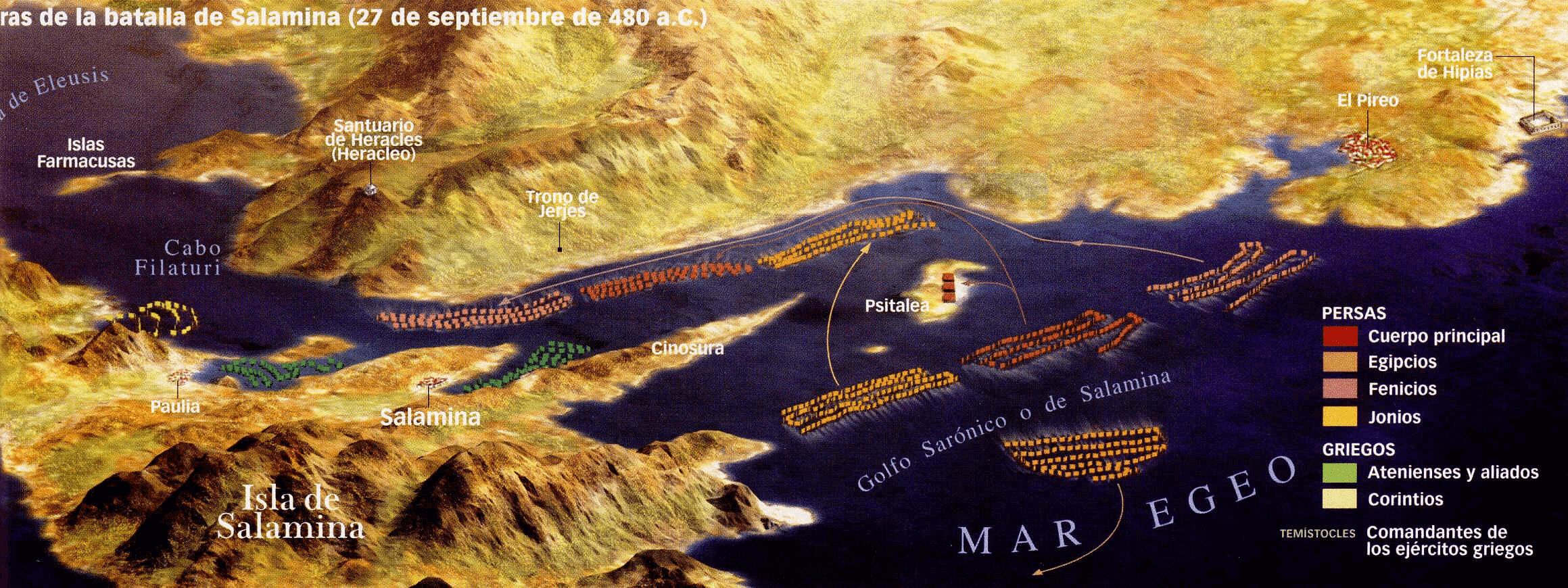 Batalla de Salamina 480 AC