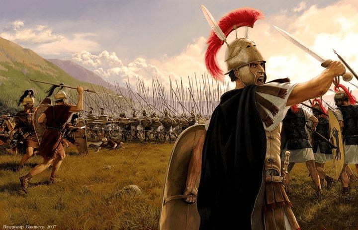 Romanos contra macedonios. Autor Vladimir Vaksheyev