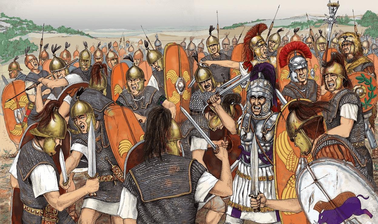 Lucha entre romanos